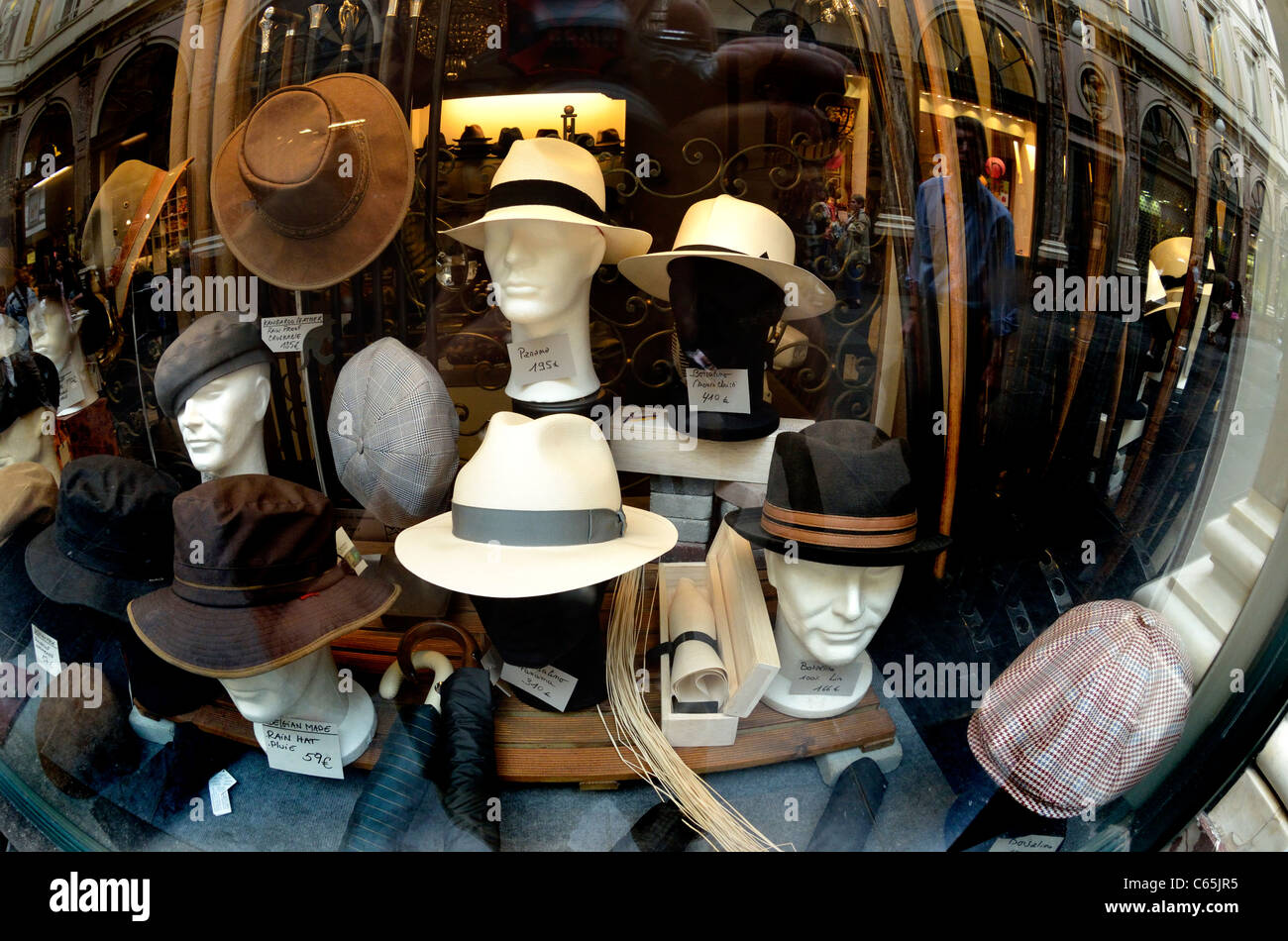 8263cb764e26c Hats In Shop Window Stock Photos   Hats In Shop Window Stock Images ...