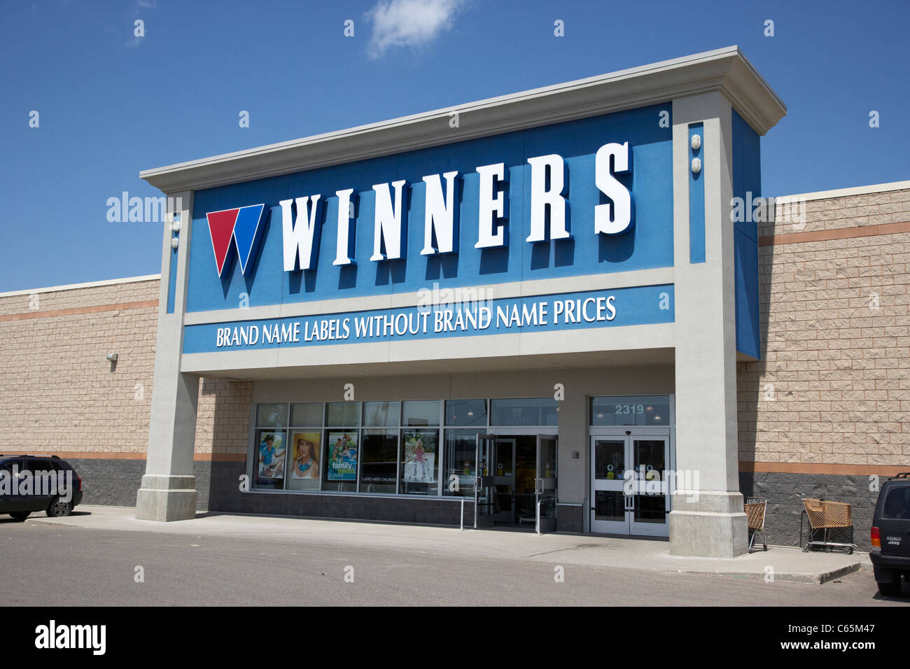 winners retail store Saskatoon Saskatchewan Canada - Stock Image