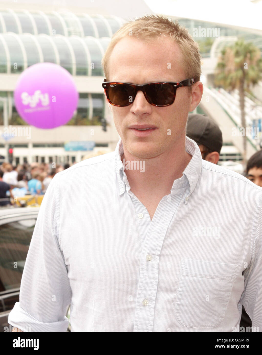 Paul Bettany out and about for COMIC-CON 2010 Candids - FRI, , San Diego, CA July 23, 2010. Photo By: Adam Orchon/Everett - Stock Image