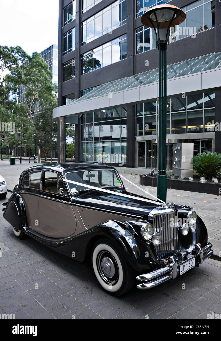 A Vintage Jaguar Mk V Limousine Car Used As Wedding Transport In
