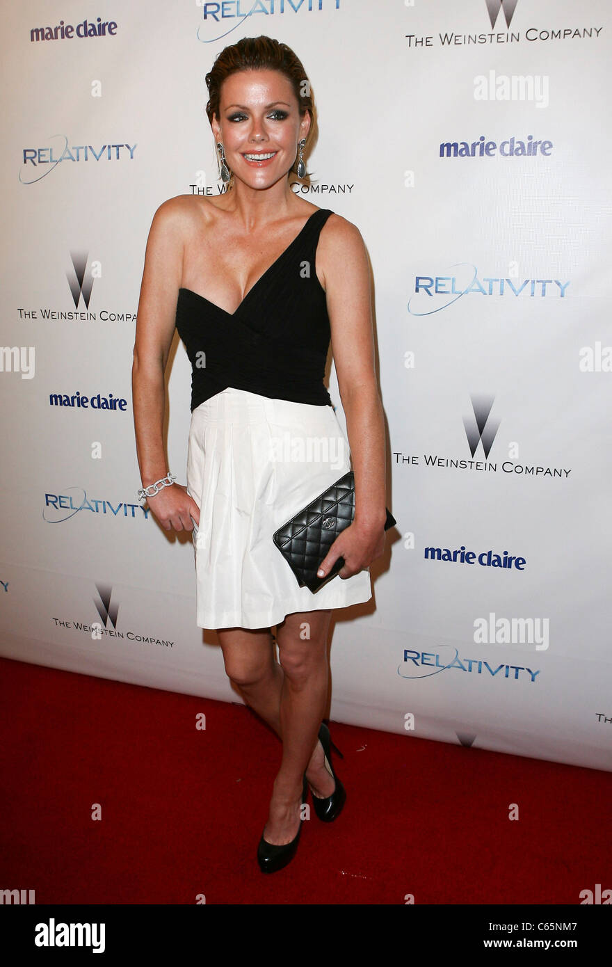 Kathleen Robertson at the after-party for The Weinstein Company and Relativity Media 2011 Golden Globes After Party, - Stock Image