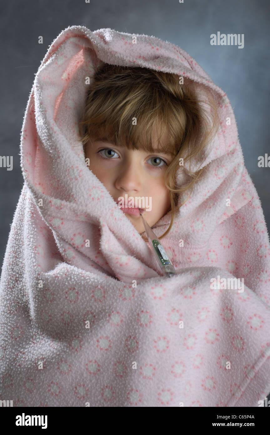 sick baby - Stock Image