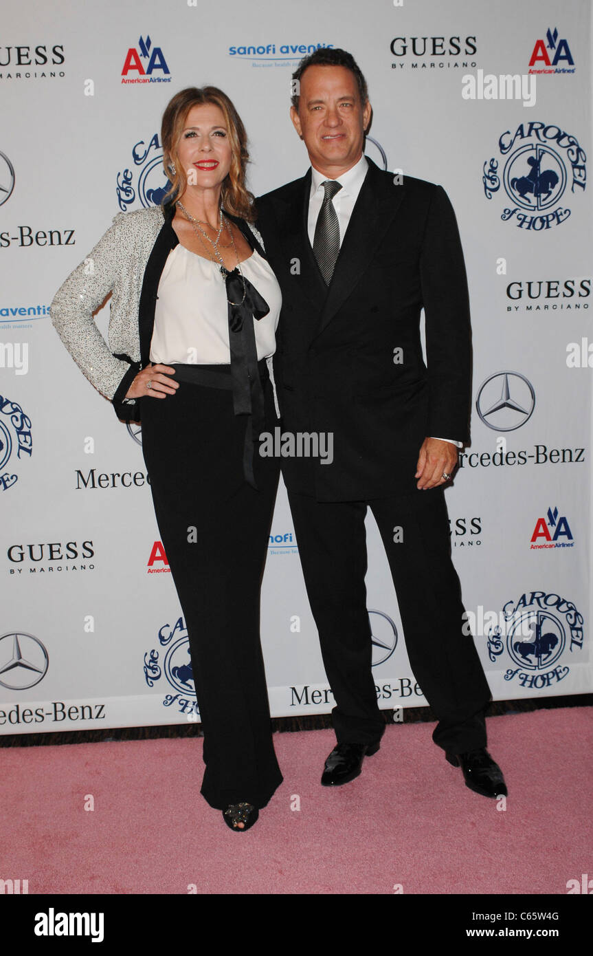Rita Wilson, Tom Hanks at arrivals for 32nd Anniversary Carousel of Hope Ball Presented by Mercedes-Benz, Beverly - Stock Image