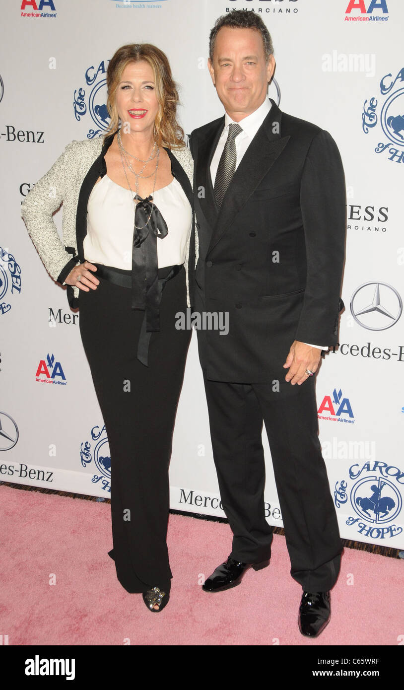 Tom Hanks, Rita Wilson at arrivals for 32nd Anniversary Carousel of Hope Ball Presented by Mercedes-Benz, Beverly - Stock Image