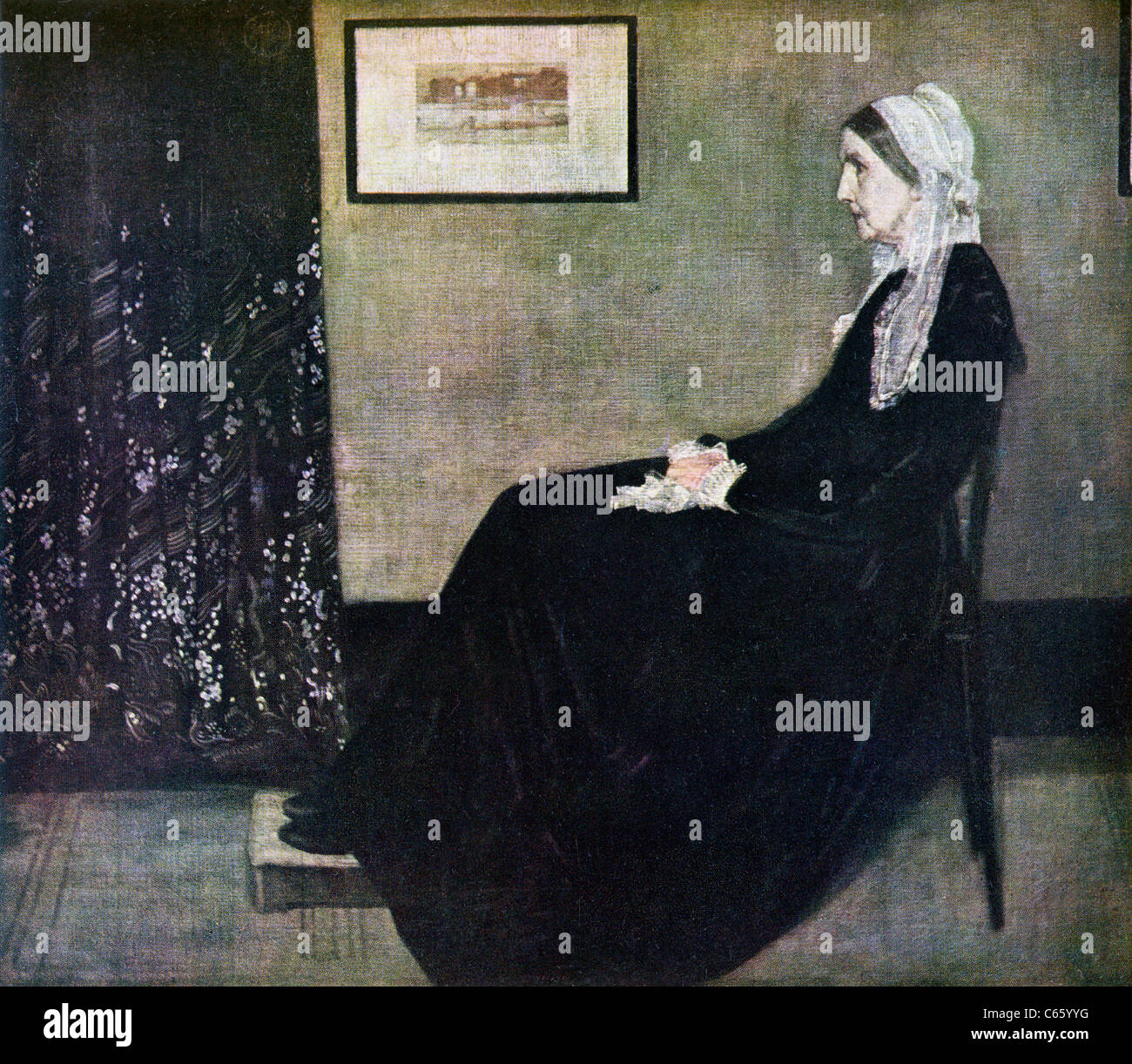 Portrait of My Mother by James A. McNeill Whistler. - Stock Image