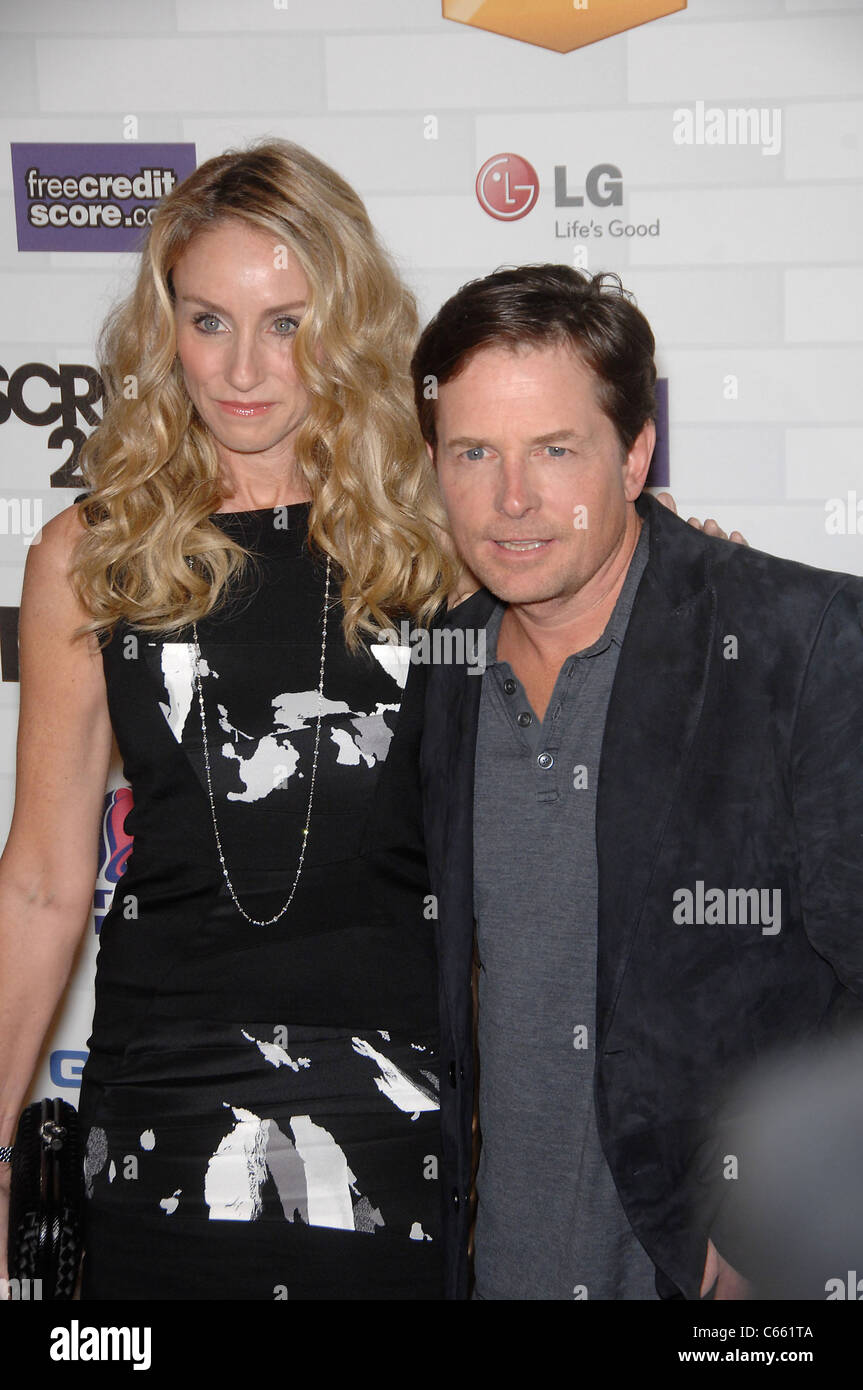 Michael J. Fox and Tracy Pollan began dating while working together.