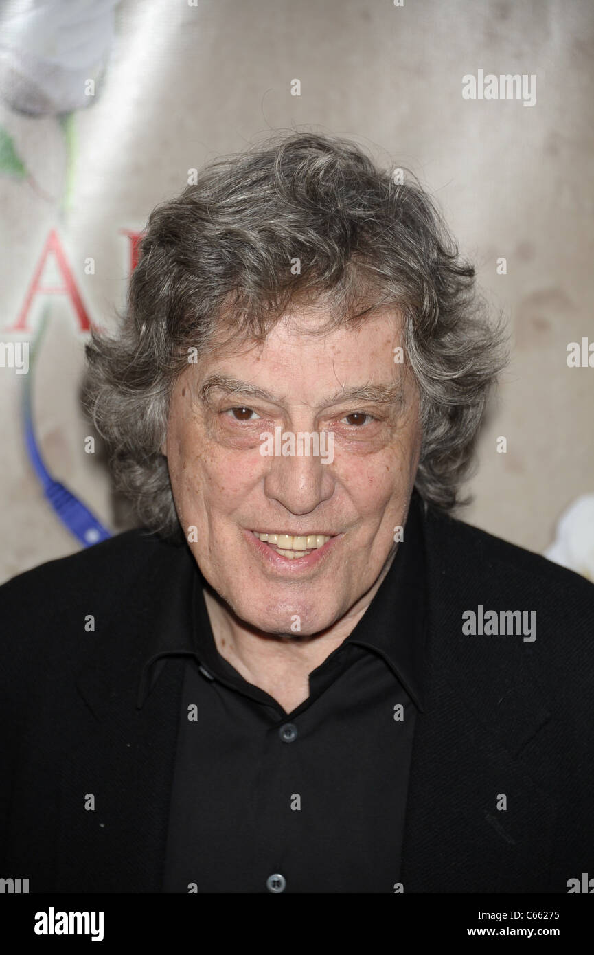 Tom Stoppard in attendance for ARCADIA Opening Night on Broadway, Ethel Barrymore Theatre, New York, NY March 17, - Stock Image
