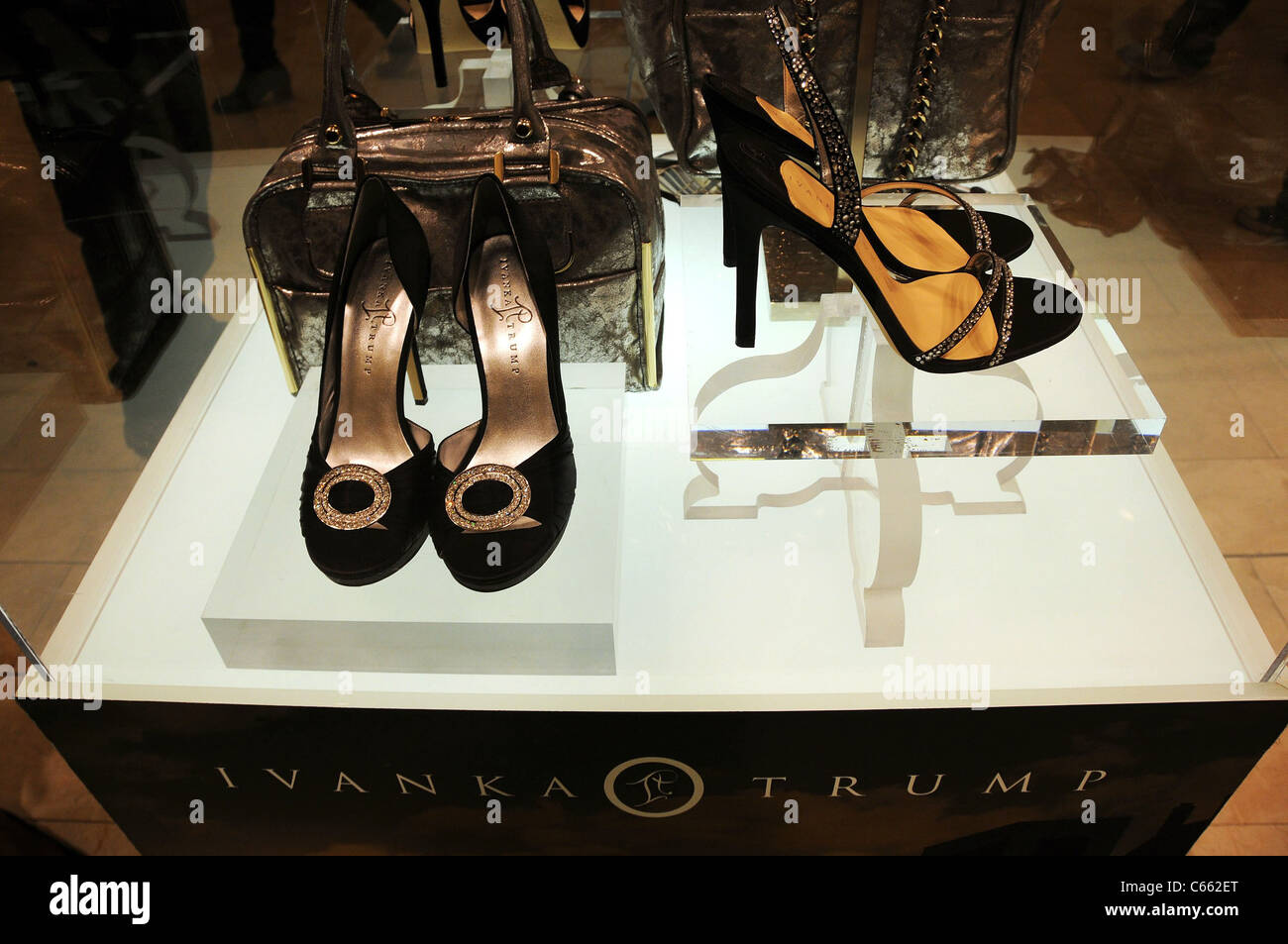 High-heeled shoes from the collection at in-store appearance for Launch of Ivanka Trump Footwear, Macy's Herald - Stock Image