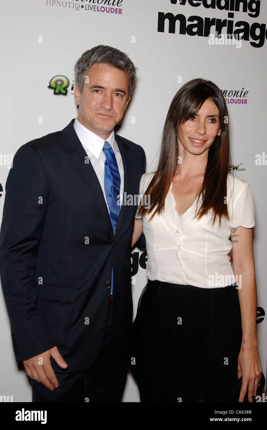 Dermot Mulroney, Tharita Catulle at arrivals for LOVE WEDDING MARRIAGE Premiere, Pacific Design Center, Los Angeles, Stock Photo
