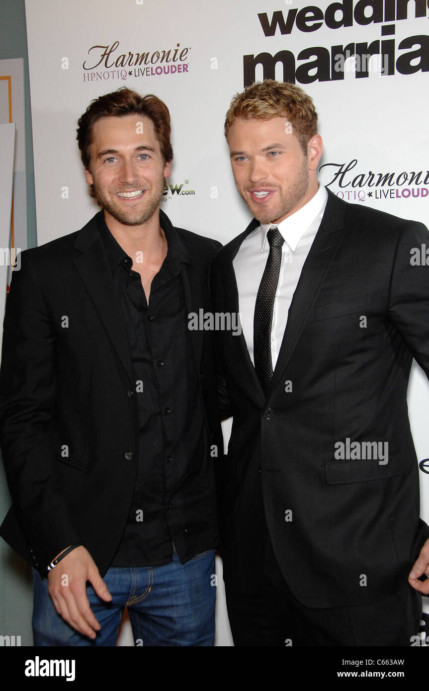 Ryan Eggold, Kellan Lutz at arrivals for LOVE WEDDING MARRIAGE Premiere, Pacific Design Center, Los Angeles, CA Stock Photo