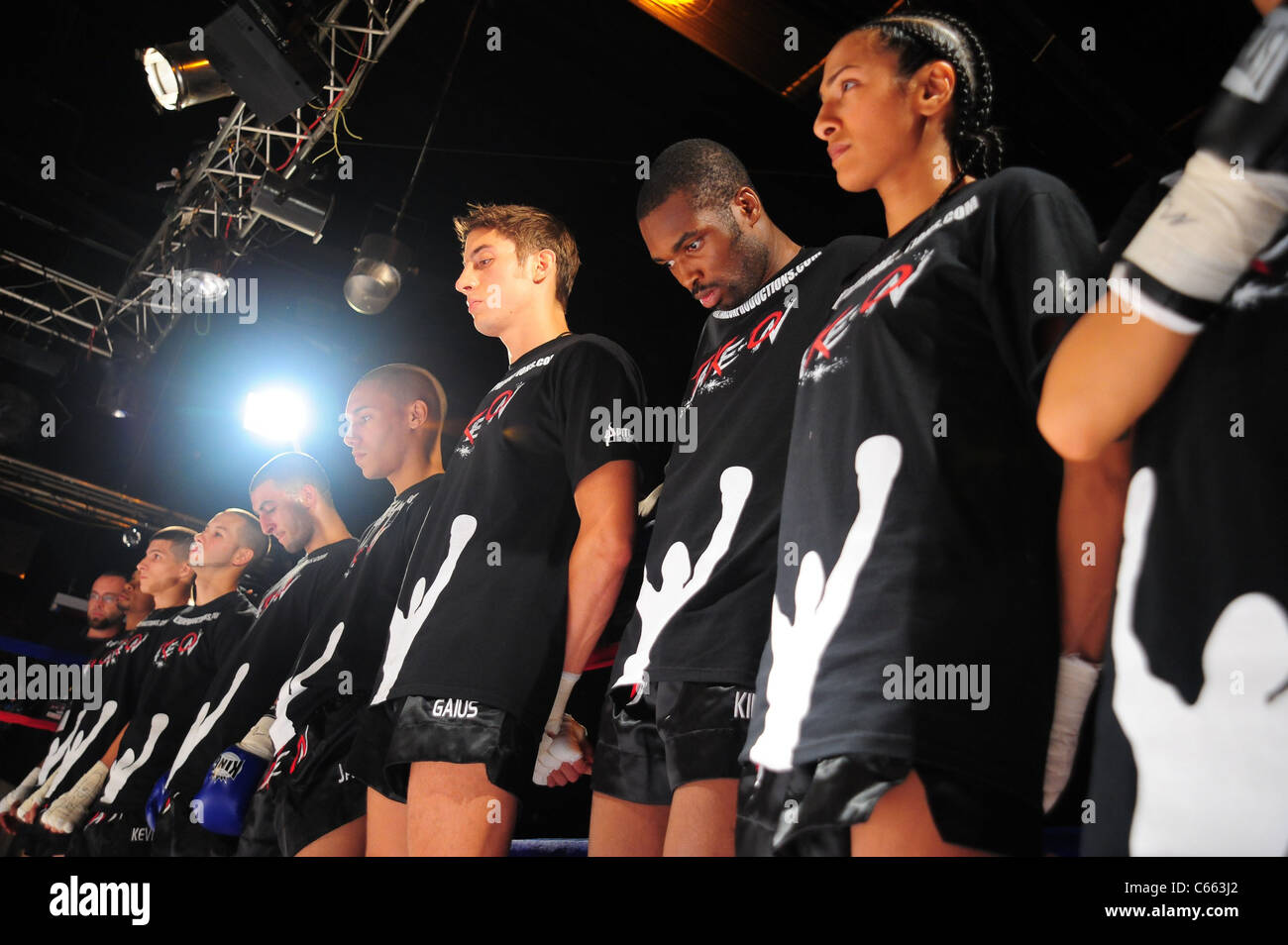 Fighters at a public appearance for TAKE ON SHOW Presents $10,000 Professional Muay Thai Kickboxing Tournament, - Stock Image