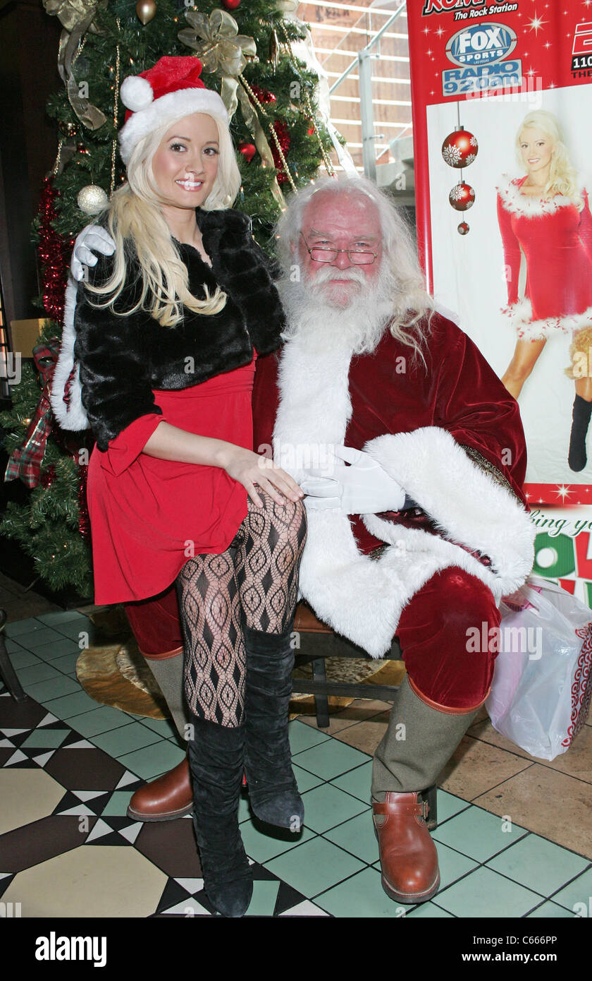 Holly Madison Santa Claus At A Public Appearance For Holly Jolly Toy Stock Photo Alamy