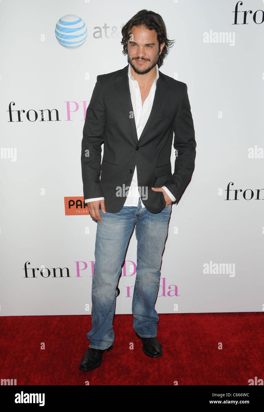 Kuno Becker at arrivals for FROM PRADA TO NADA Premiere, LA Live Regal Cinemas Premiere, Los Angeles, CA January Stock Photo