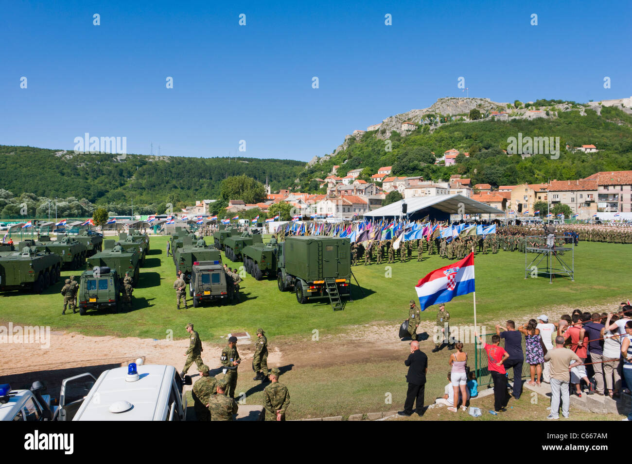 16th anniversary of the Croat army Operation Storm in the town of Knin, Aug 05. 2011 - Stock Image