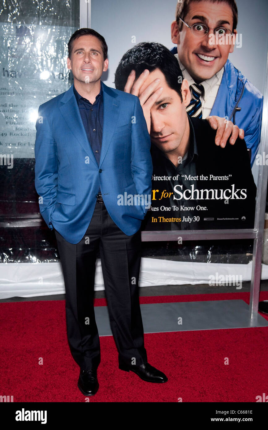 Steve Carell at arrivals for DINNER FOR SCHMUCKS Premiere, The Ziegfeld Theatre, New York, NY July 19, 2010. Photo - Stock Image