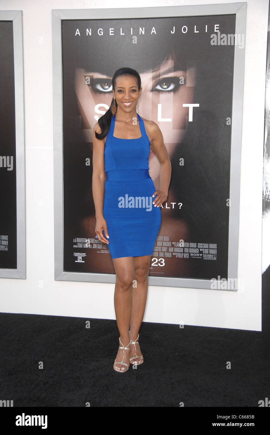 Shaun Robinson at arrivals for SALT Premiere, Grauman's Chinese Theatre, Los Angeles, CA July 19, 2010. Photo - Stock Image