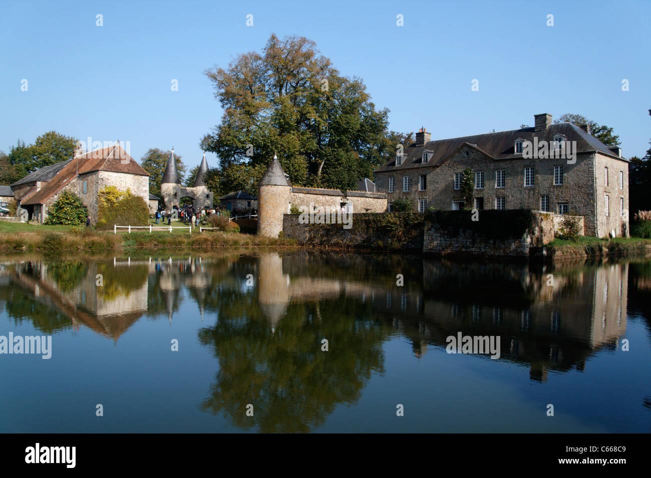 Manor of Guyardière (La Haute Chapelle, Orne, Normandy, France). - Stock Image