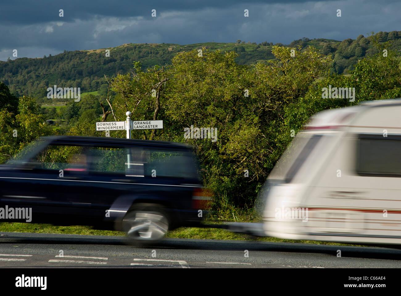 Lakeland Land Rover >> Car Towing Caravan Stock Photos & Car Towing Caravan Stock ...