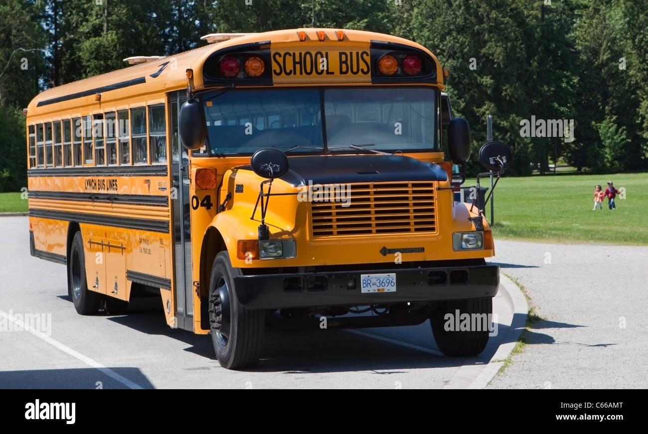 Iconic North American School Bus - Stock Image