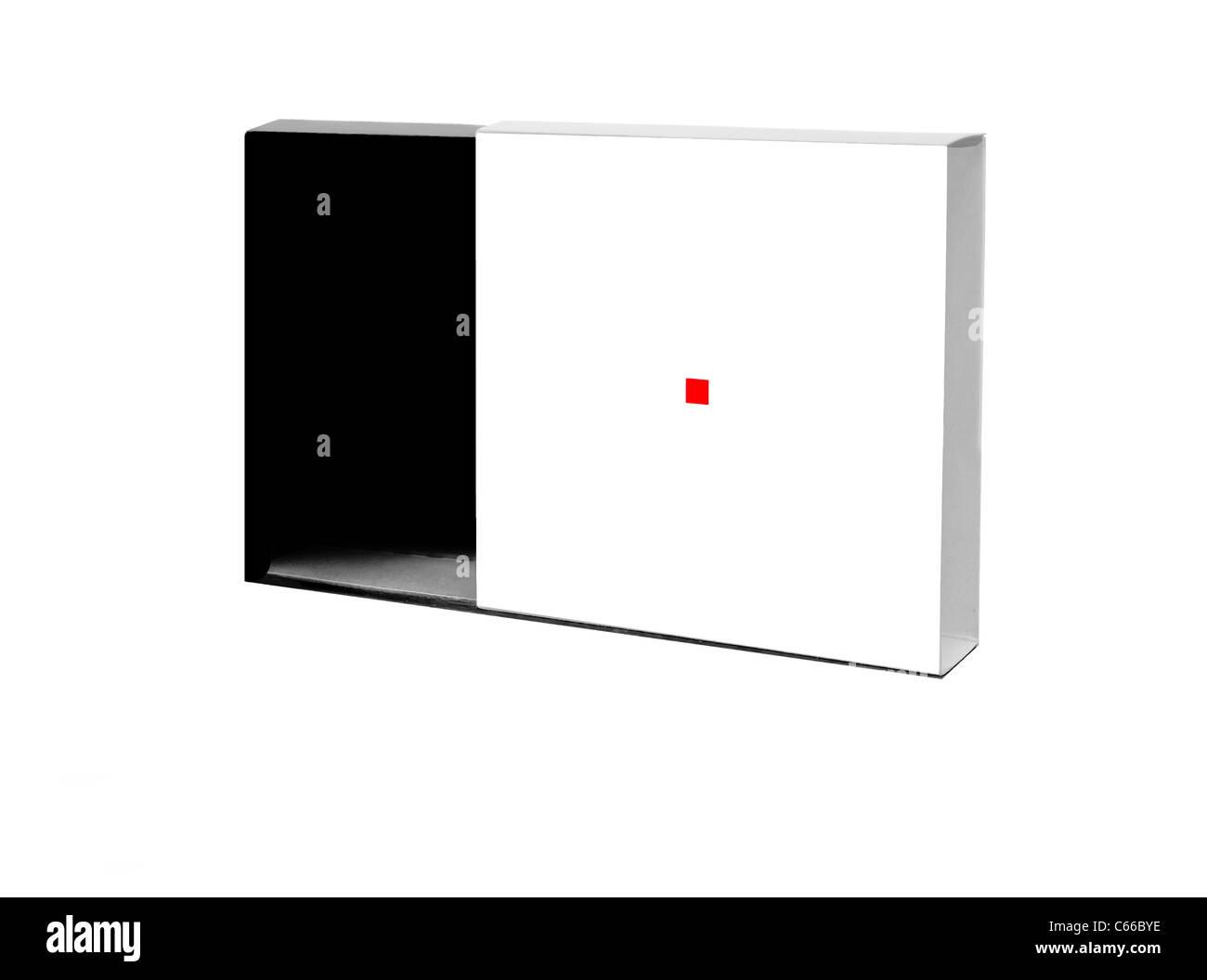Japanese paper box black and white - Stock Image