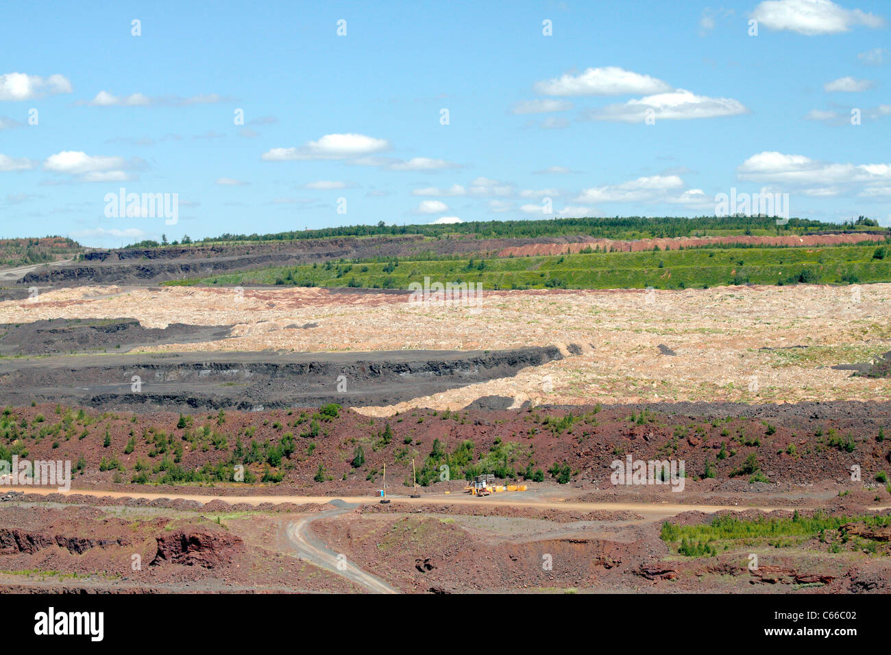 Hull–Rust–Mahoning Open Pit Iron Mine, area under reclaimation - Stock Image
