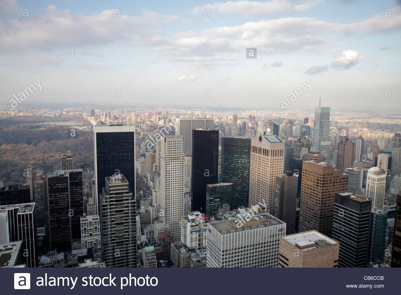 Manhattan New York City NYC NY Midtown 6th Sixth Avenue of the Americas Rockefeller Center Top of the Rock Observation - Stock Image