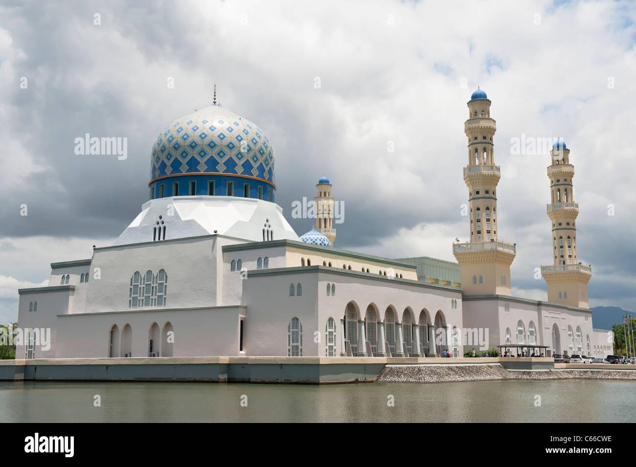 The Kota Kinabalu City Mosque - Stock Image