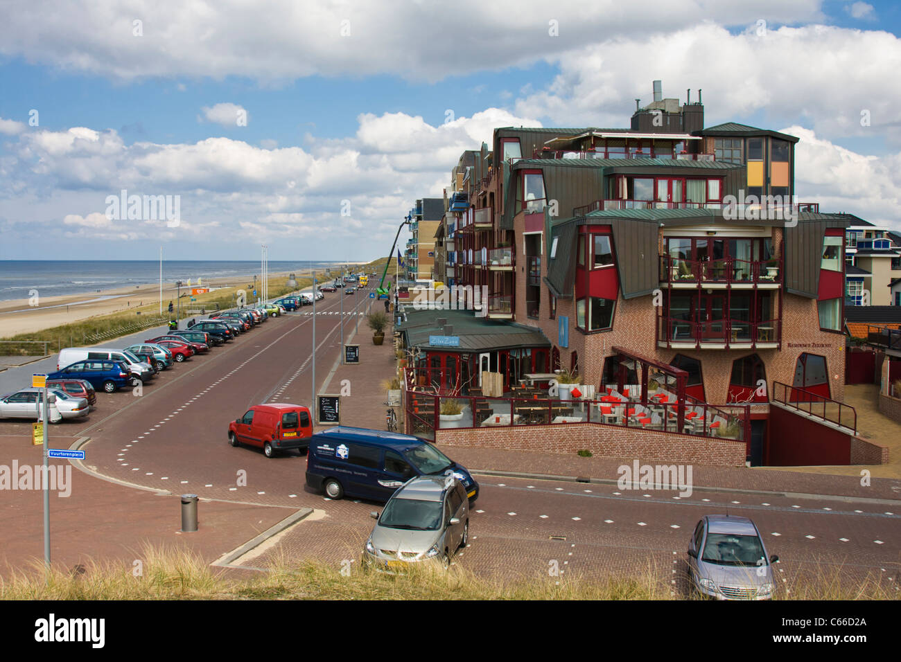 Egmond aan Zee seaside resort and fishing village in North Holland. The Netherlands. - Stock Image