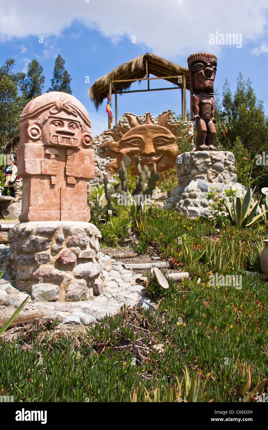 'Mitad del Mundo' Equator museum near Quito in Ecuador. - Stock Image