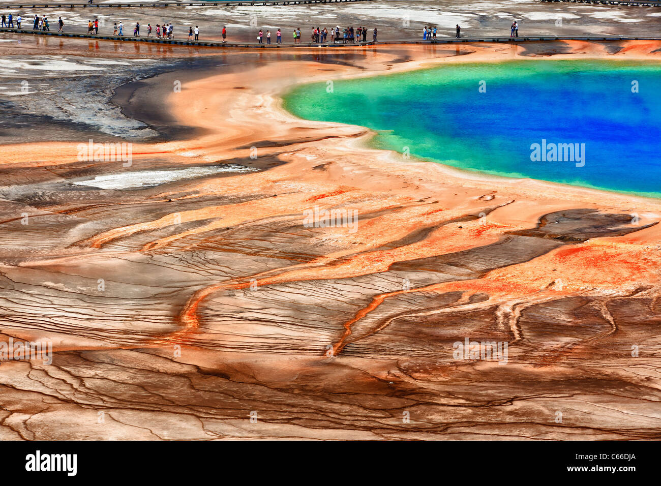 Grand Prismatic in Yellowstone National Park - Stock Image