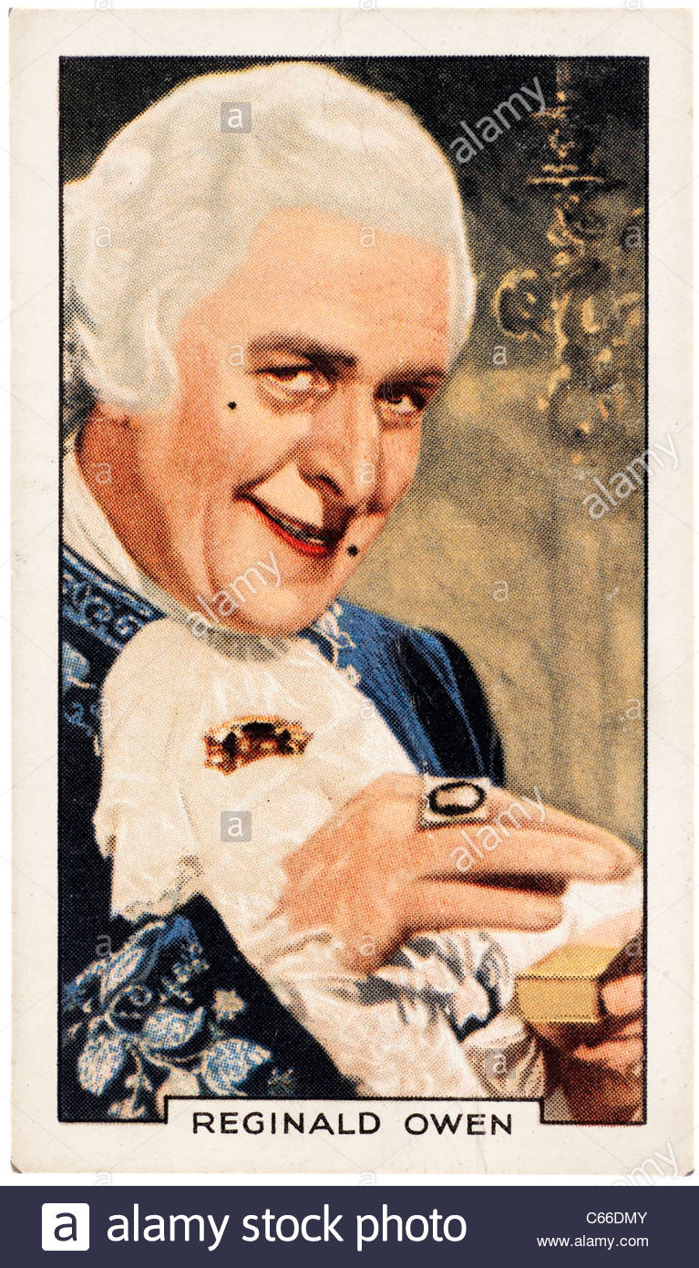 John Reginald Owen 1887 to 1972  was a  British character actor and was known for his many roles in British and - Stock Image