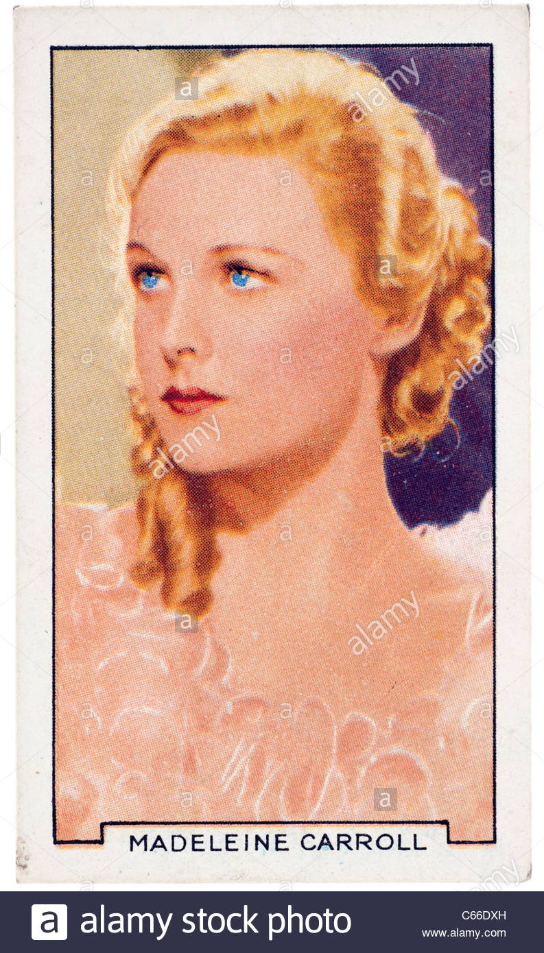 Edith Madeleine Carroll  1906  to 1987 was an English actress and film star. EDITORIAL ONLY - Stock Image