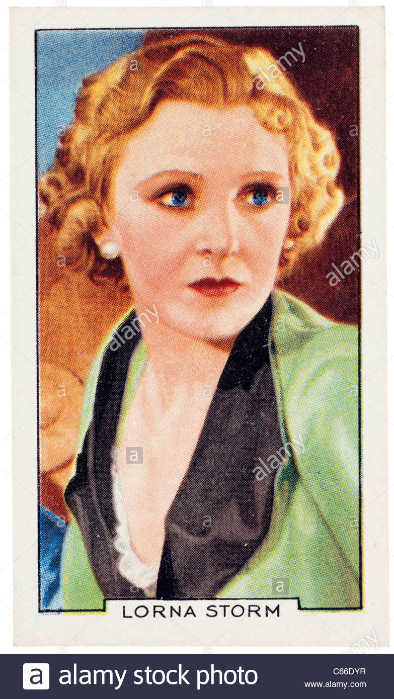 Lorna Storm, actress and film star. EDITORIAL ONLY - Stock Image
