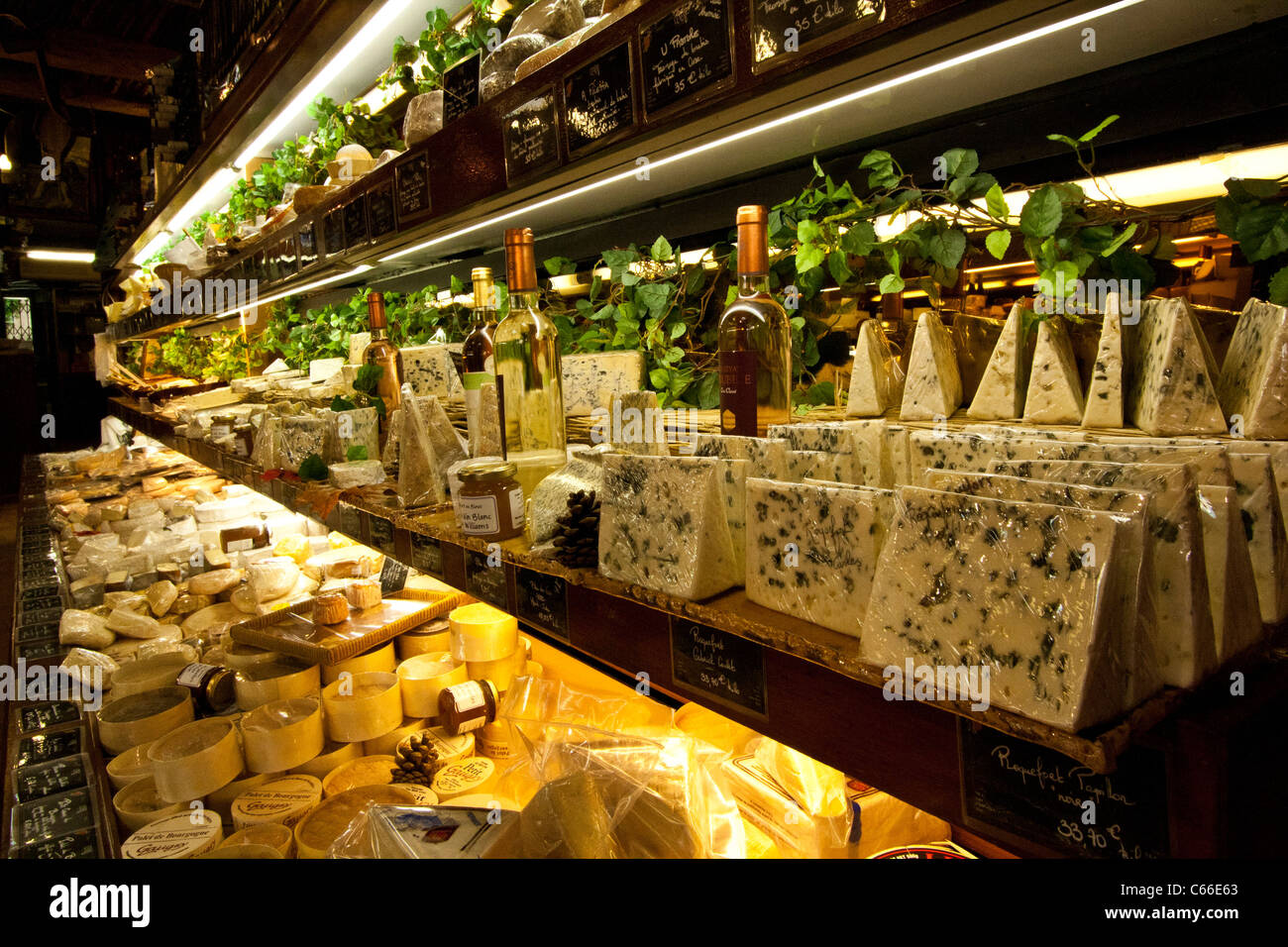 Cheese/Fromage Store - Stock Image