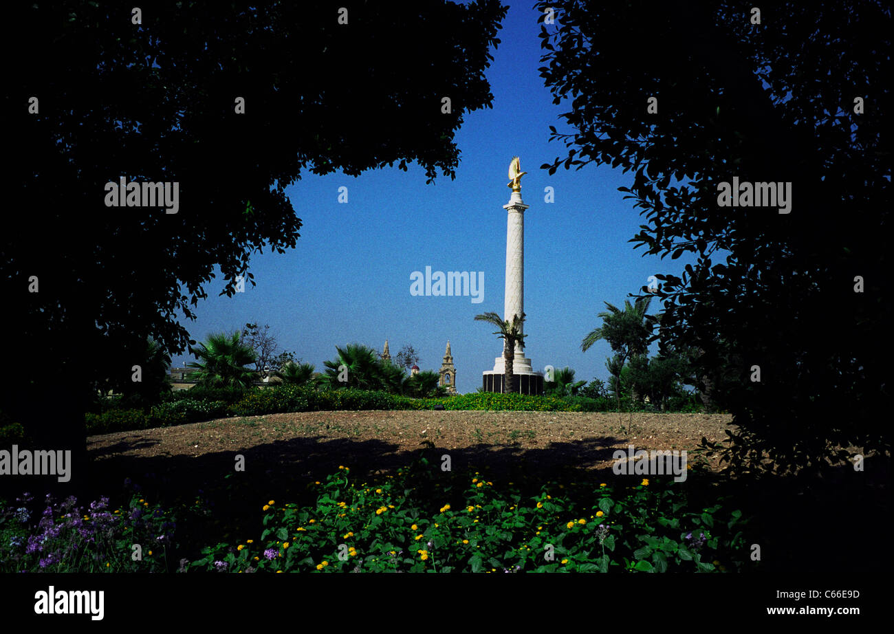 Malta Memorial, Malta. Memorial to the 2300 Airmen who died and have no known grave. Maintained by Commonwealth - Stock Image
