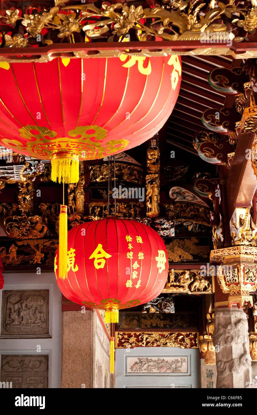Thian Hock Keng Temple, Telok Ayer St, Singapore - Stock Image