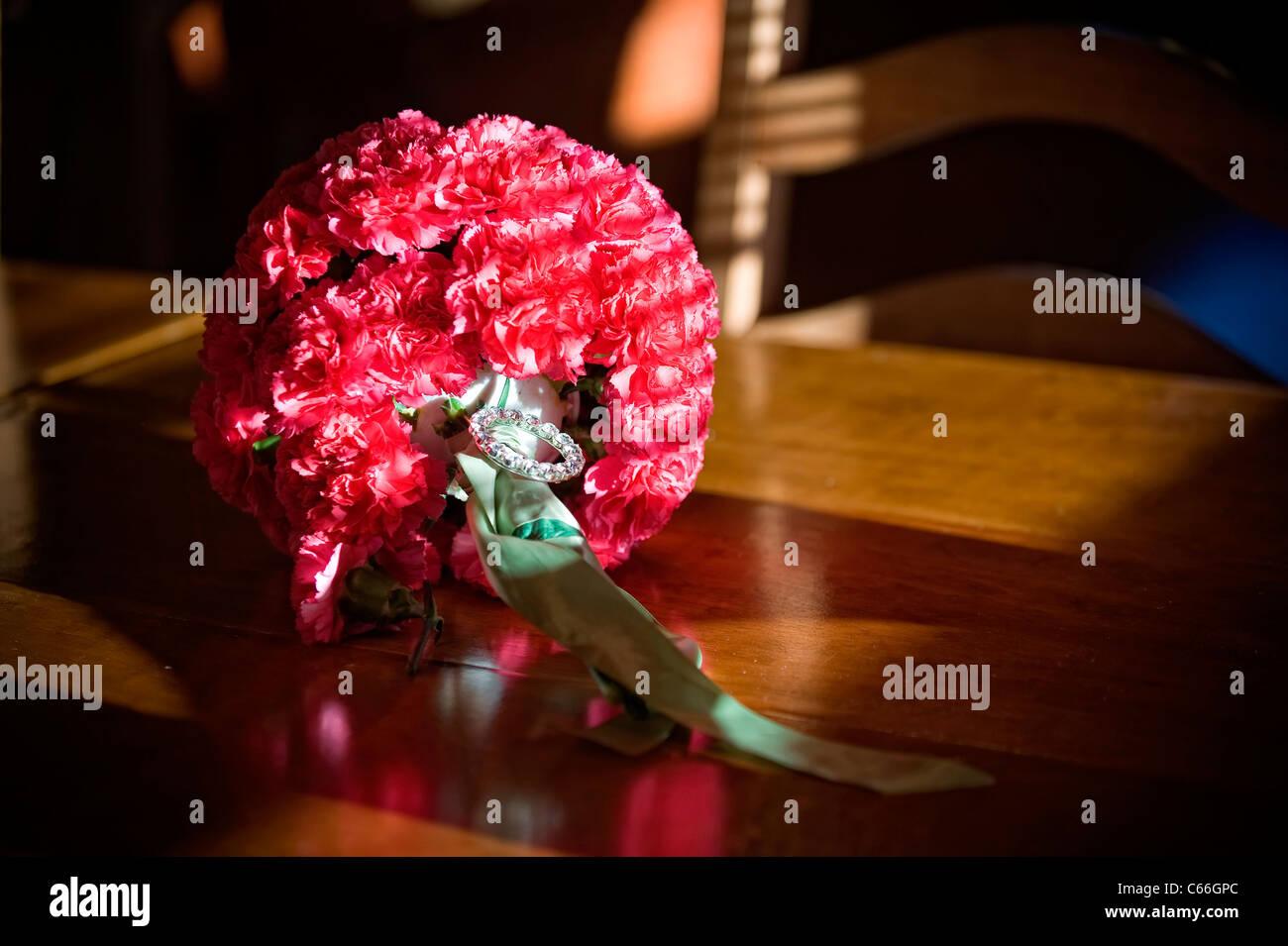 Bride's flower bouquet - Stock Image