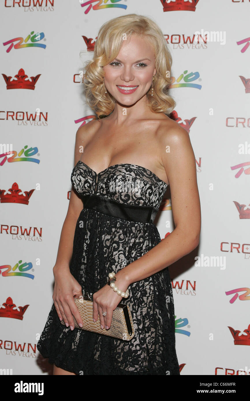 Anya Monzikova in attendance for Anya Monzikova and Jasmine Dustin at Crown Nightclub, , Las Vegas, NV June 25, - Stock Image