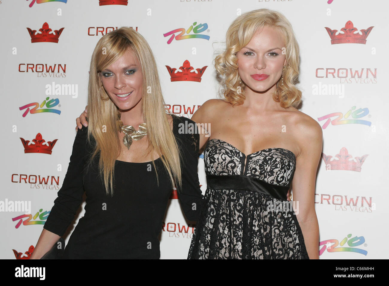 Jasmine Dustin, Anya Monzikova in attendance for Anya Monzikova and Jasmine Dustin at Crown Nightclub, , Las Vegas, - Stock Image