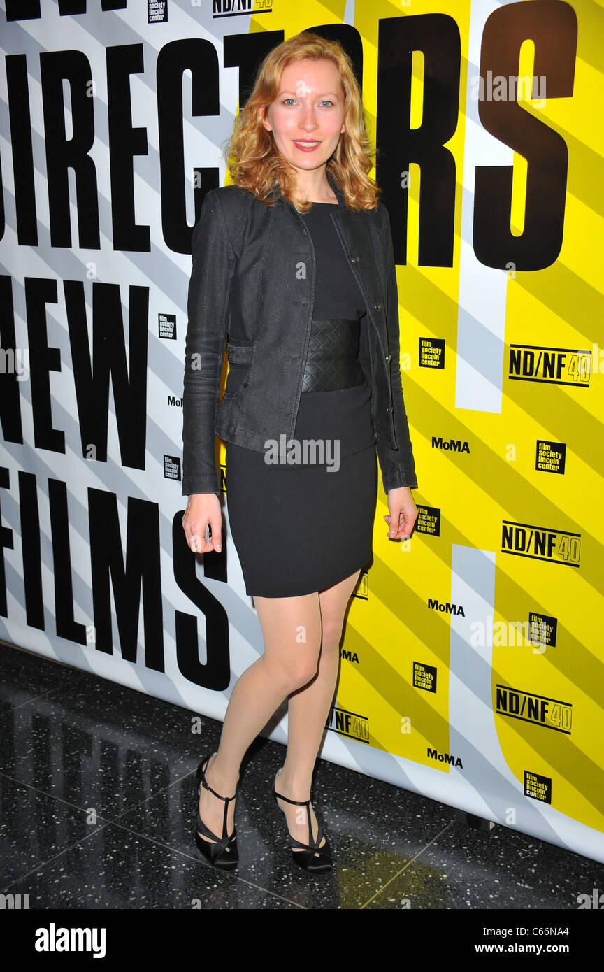 Dounia Sichov at arrivals for MARGIN CALL Premiere, MoMA Museum of Modern Art, New York, NY March 23, 2011. Photo - Stock Image