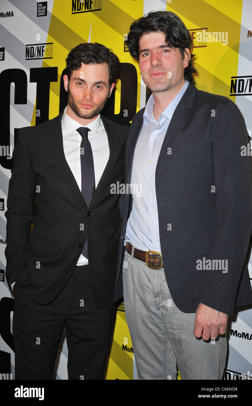 Penn Badgley, J.C. Chandor at arrivals for MARGIN CALL Premiere, MoMA Museum of Modern Art, New York, NY March 23, - Stock Image