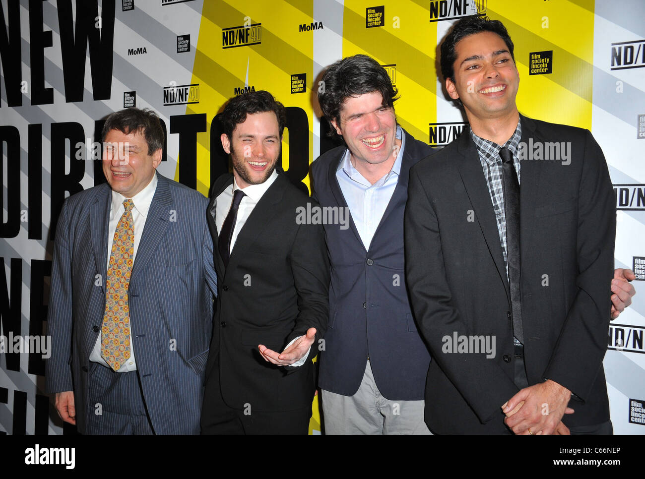 Richard Pena, Penn Badgley, J.C. Chandor, Raj Roy at arrivals for MARGIN CALL Premiere, MoMA Museum of Modern Art, - Stock Image