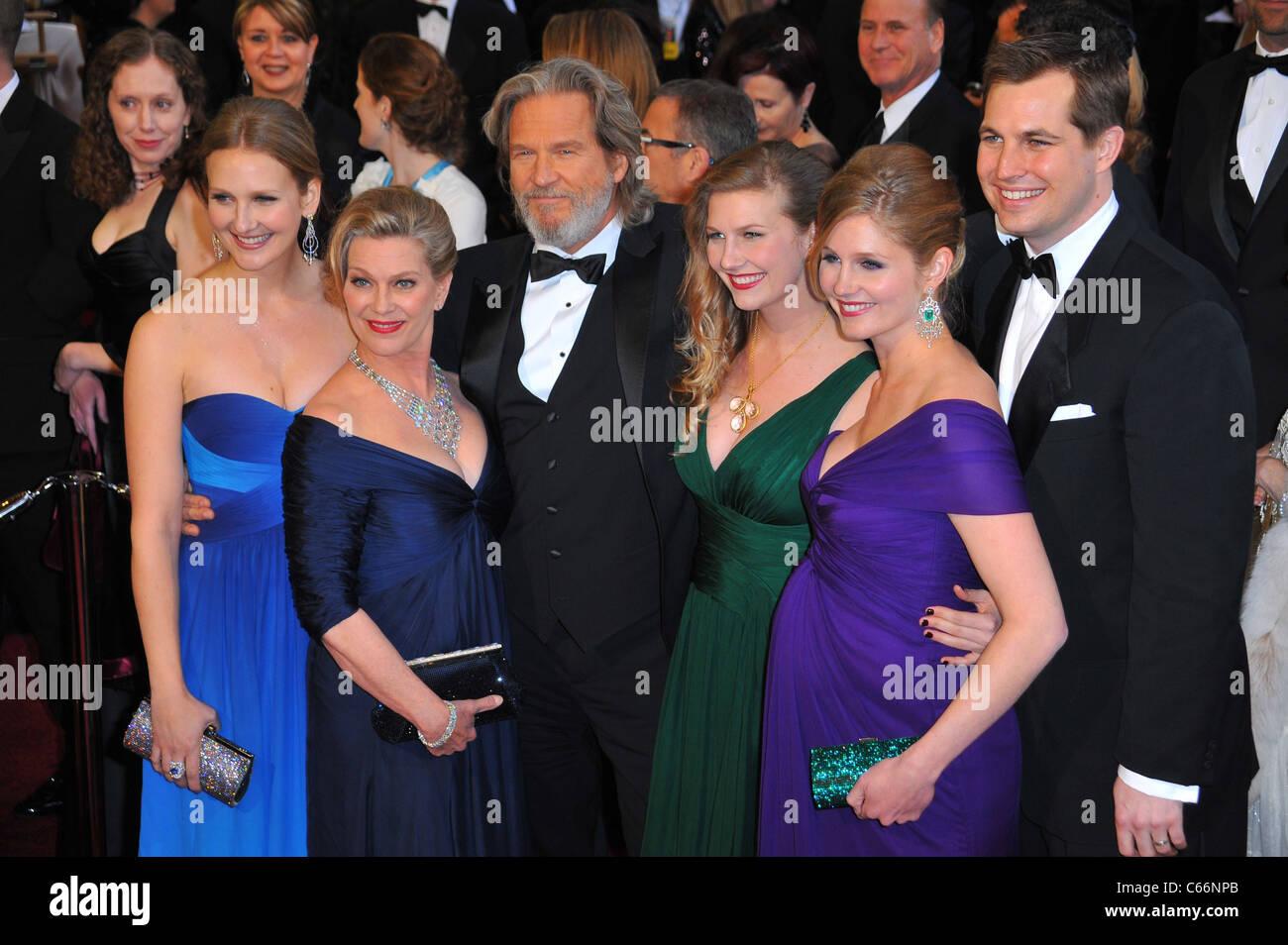 Jeff Bridges (C), Wife Susan Bridges (2nd L), Family at ...