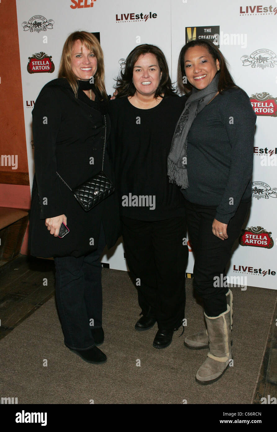 Lisa Erspamer (Chief Creative Officer of OWN), Rosie O'Donnell, Christina Norman (CEO of OWN) at arrivals for - Stock Image