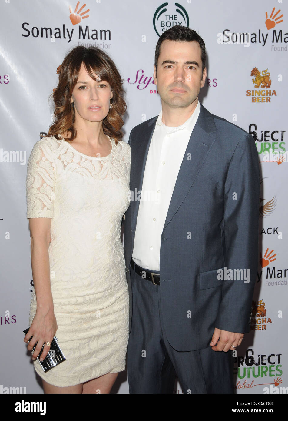 Rosemarie DeWitt, Ron Livingston at arrivals for Somaly Mam Foundation's Project Futures Global Campaign Launch, - Stock Image