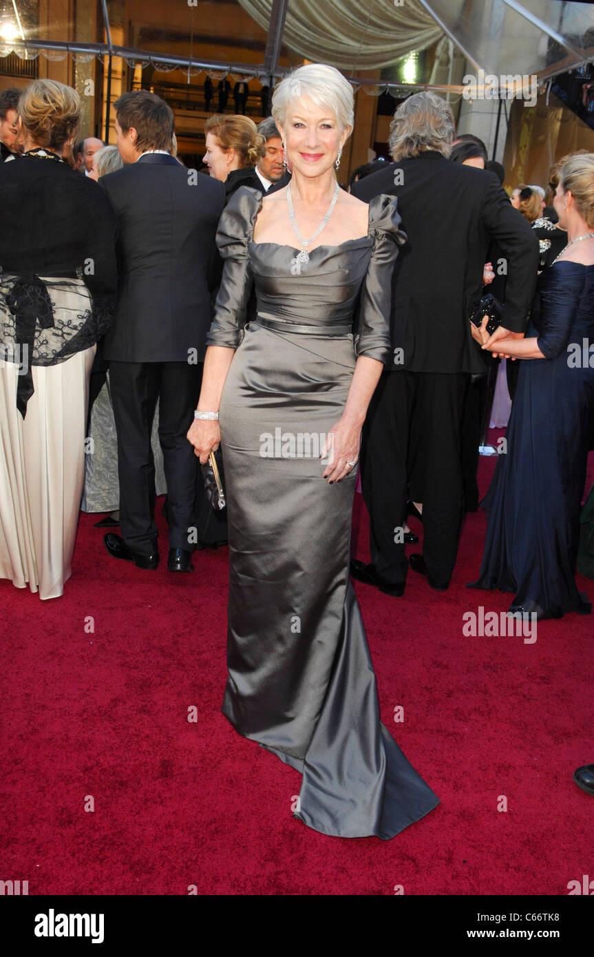 Helen Mirren (wearing a Vivienne Westwood Couture gown) at