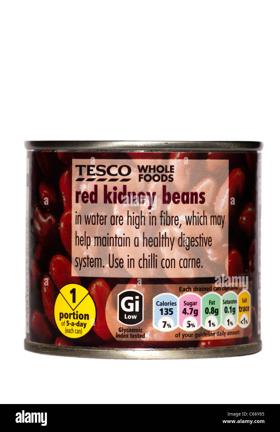Tin Of Tesco Own Brand Red Kidney Beans - Stock Image