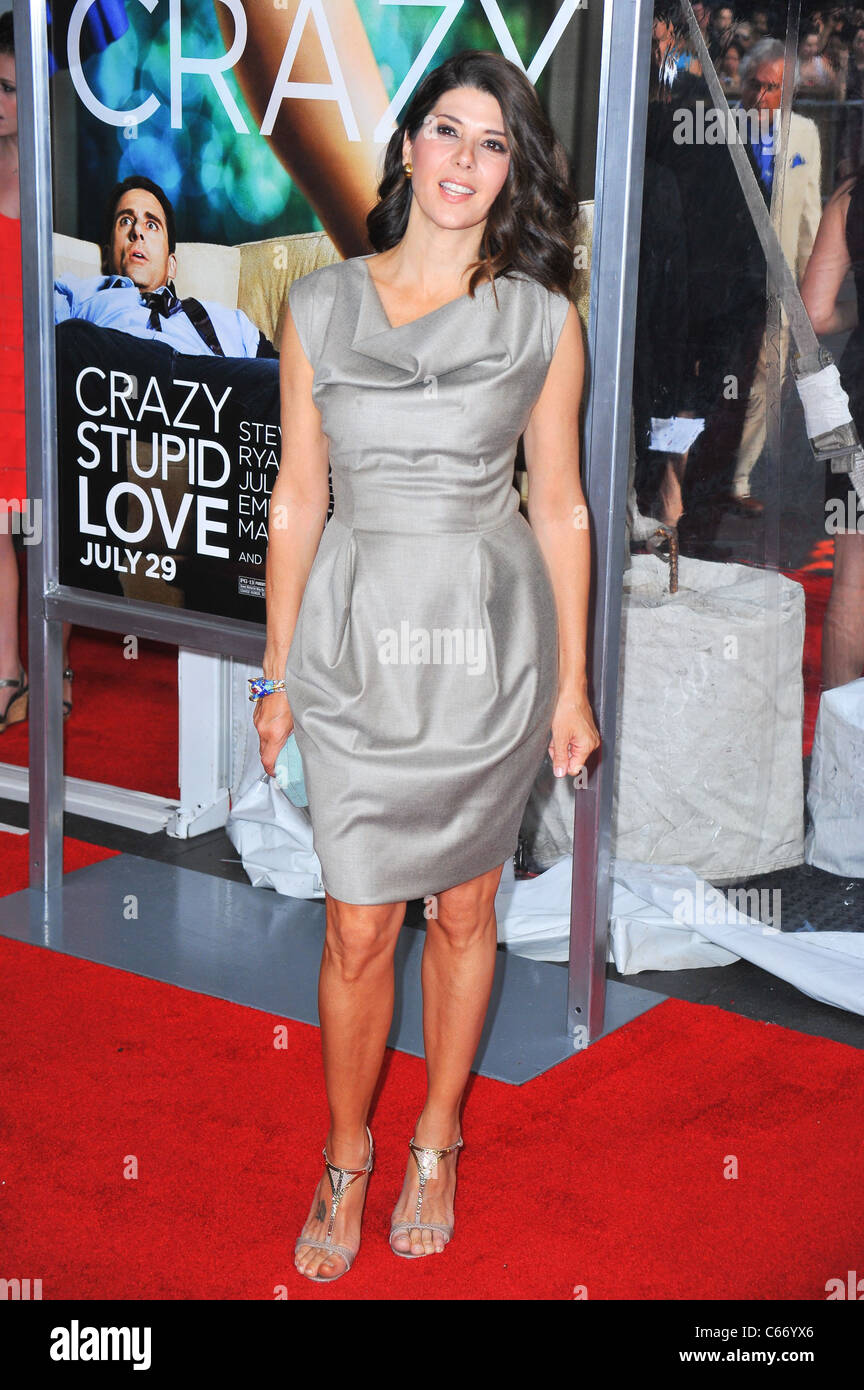 Marisa Tomei at arrivals for Crazy, Stupid, Love. Premiere, The Ziegfeld Theatre, New York, NY July 19, 2011. Photo - Stock Image