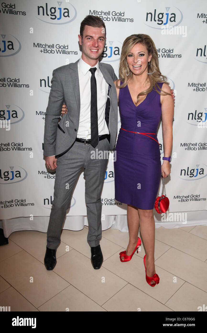 Matthew Taylor, Amanda Drury in attendance for NLGJA's 16th Annual Headlines and Headliners Benefit, Mitchell - Stock Image