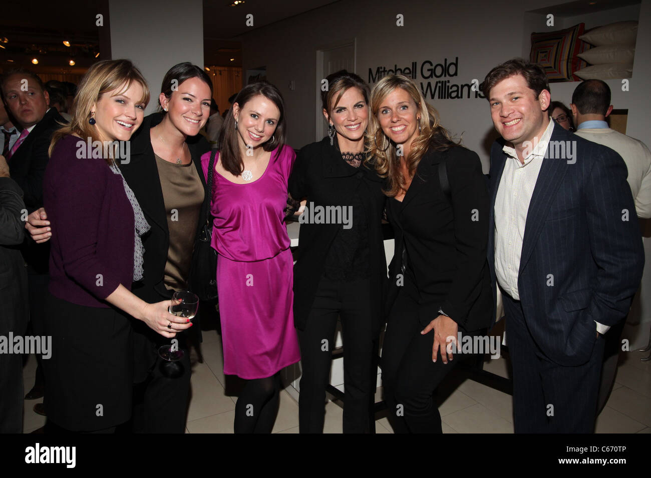 guests, Natalie Morales (fourth from left), guests in attendance for NLGJA's 16th Annual Headlines and Headliners - Stock Image